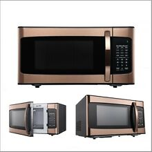 Microwave Oven Hamilton Beach 1 1 Cu  Ft  Elegant Stainless Steel Copper NEW