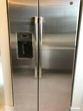GE GZS22DSJSS 21 5 cu  ft  Side by Side Refrigerator Stainless with Dispenser