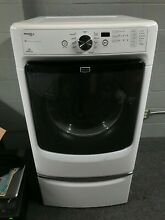 Maytag Gas Front Load dryer w  Pedestal Drawer  Model  MGD4200BW1  WORKS GREAT