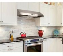 Presenza 30 in  Under Cabinet Range Hood in Stainless Steel with LED Lights P12