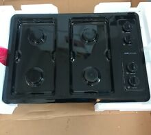 MAYTAG BLACK 30  INCH GAS COOKTOP 4 BURNER CCG2421B