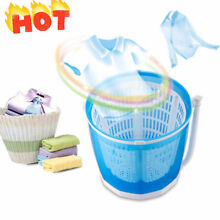 Portable Hand operated Mini Washing Machine Compact Traveling Outdoor Spin Dryer