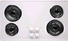 Frigidaire 36  White Electric Coil Top Cooktop FFEC3605LW