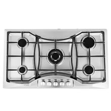 Empava 36  Gas Stainless Steel Cooktop 5 Burners Cooking Built in Stove  888