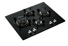 24 in Tempered Glass Gas Cooktop 4 Italy Sabaf Burners Built in Stove  24GC4L67A
