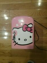 Hello Kitty Pink Personal Portable Mini Fridge w Handle Thermoelectic Cold Hot