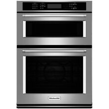 KitchenAid 27  Stainless Steel Electric Built In Microwave Combination Oven
