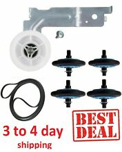 Clothes Dryer Repair Kit For Maytag MDE9700AYW MDE6700AYW Roller Belt Pulley