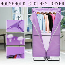 Portable Electric Hot Air Clothes Dryer Fast Drying Wardrobe Machine Home