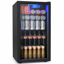 120 Can Beverage Refrigerator Beer Wine Soda Drink Cooler Freezer Mini Fridge