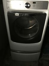 Maytag MCT Maxima XL Gas Dryer  White with pedestal   gently used
