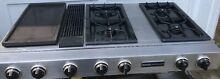 Jenn Air Downdraft Gas Range Cooktop 4 Burners Griddle Char Grill Works Right