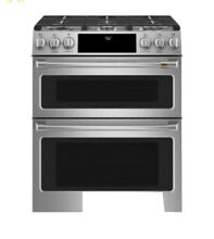 GE Cafe Series CGS750P2MS1 30  Slide In Gas Double Oven With Convection Range