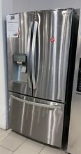 LG 22 Cu  Ft  Stainless Counter Depth French Door Refrigerator  EOLFXC22526S