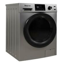 Magic Chef MCSCWD27S5 2 7 Cu Ft Front Load Washer And Dryer Combination  Silver