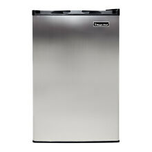 Magic Chef MCUF3S2 3 Cubic Foot Deep Small Mini Upright Freezer  Stainless Steel