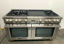 Thermador Pro Grand PRD606REG 60  Stainless Steel Dual Fuel Gas Range w  Griddle