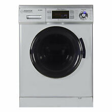 Equator EZ4400 All In One Combination Ventless Home Washer Dryer Unit  Silver