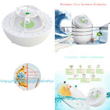 Portable Sink Ultrasonic Cleaner Dishwasher USB Auto Washing Green 100x100x75mm