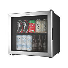 Vremi 1 7 Cubic Foot Beverage Glass Door Mini Fridge w  Adjustable Shelf  Black