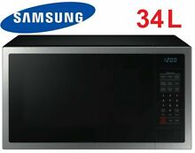Samsung 34L 1000W Stainless Steel Microwave Oven Ceramic Interior   ME6124ST 1