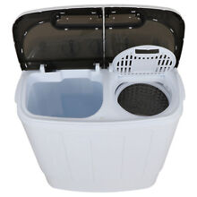 Washer   Dryer with Mini Washing Machine Compact Portable and Spin Dryer  White