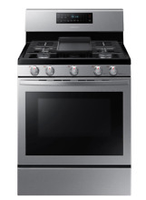 Samsung 5 8cu  ft  Freestanding Gas Range with Convection   Stainless Steel