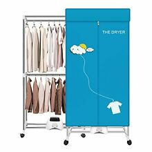 Portable Dryer 110V 1000W Electric Clothes Dryer Machine Double layer Stackable