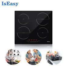 IsEasy Induction Cooktop 4 Stoves Smooth Top Hob Touch Built in Electric Stoves