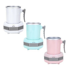 Mini Electric Ice Maker Machine Drink Chiller in 15 Minutes for Milk Coffee