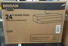 Broan NuTone 412404 Non Ducted Under Cabinet Ductless Range Hood Insert 24 In