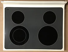 9763328 8188366 Whirlpool Range Stove Main Ceramic Cooktop Top Assembly Bisque