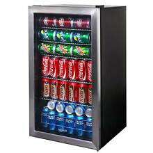 NewAir 126 Can Stainless Steel Compact Beverage Cooler  Refurbished