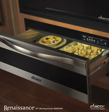 Dacor MWDH30S 30  Warming Drawer with Horizontal Stainless Steel Trim