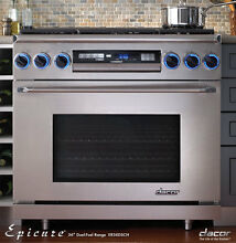 Dacor ER36DSCHNGH 36  Freestanding Dual Fuel Range Natural Gas High Altitude