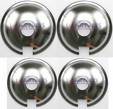 4 PIECE SET Genuine OEM Chrome Drip Pan Set  2  715878  2  715877 Jenn Air