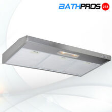 Super Quiet 350CFM 36  Under Cabinet Stainless Steel 2 Motor Push Pad Range Hood
