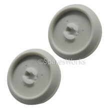 2 x Genuine MIELE Lower Basket Rack Wheel Dishwasher Wheels Castor Spare Part
