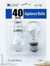 2 Pk Appliance Light Bulb Refrigerator Freezer Oven Microwave Fridge Fan A15 40W