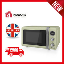Swan SM22030GN 20Ltr Retro Digital Microwave 800w in Vintage Green   Brand New