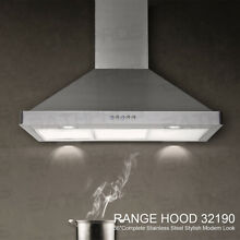 BAT NEW 36  Kitchen Vented Stove Wall Mount Stainless Steel Range Hood LED Light