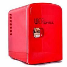 Uber Appliance UB CH1 Uber Chill 6 can retro personal mini fridge for bedroom  o