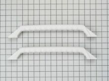 Genuine WR12X869 GE Refrigerator Refrigerator Door Handle Kit  White