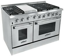 Thor Kitchen 48  Gas Range with 6 Burners and Griddle HRG4808U