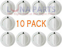 10 PACK  Dryer Timer Control Knob White for GE WE01X20374 PS8769912 AP5805160