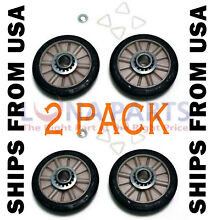 2 PACK  NEW  349241T 349241 DRYER DRUM ROLLER KIT FITS WHIRLPOOL KENMORE SEARS