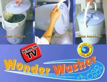 Wonder Washer Portable Washing Machine Travel  Mini Laundry Dorm  RV Camping  TV