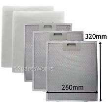 3 x UNIVERSAL Cooker Hood Vent Metal Mesh Extractor Fan Foam Filter 320 x 260 mm