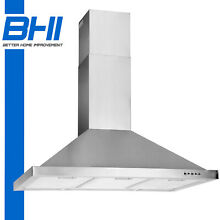 36  Wall Mount Stainless Steel Kitchen Range Hood Stove Vent Push Button 500CFM
