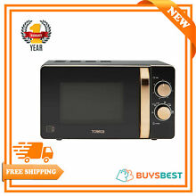 Tower 20L Rose Gold Manual Solo Microwave 800 W In Black   Rose Gold   T24020